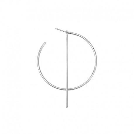 Boucle d'oreille Semi-Créole géométrique