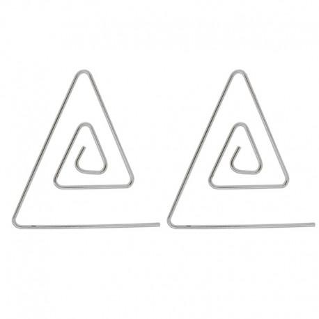 Paire de boucles d'oreilles spirale triangle