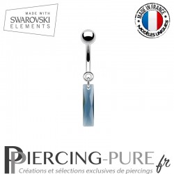 Piercing Nombril Queen Baguette Swarovski Elements Crystal Montana