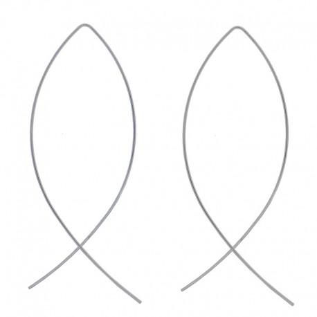 Paire de boucles d'oreilles minimaliste poisson