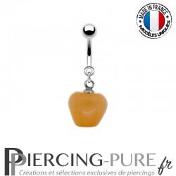 Piercing Acier pendentif pomme pêche