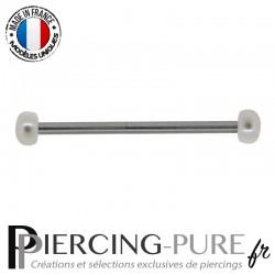 Piercing Industriel pas de vis interne Perles naturelles