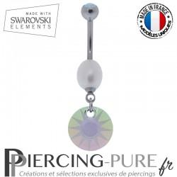 Piercing Nombril Soleil Swarovski Paradise Shine et perle