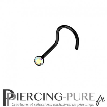 Piercing Nez Blackline cristal irisé