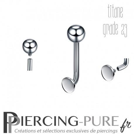 Piercing Génital Titane bille et disque