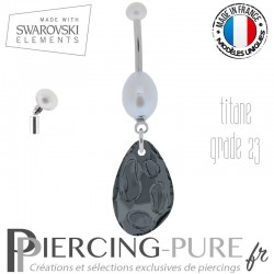 Piercing nombril radiolaire swarovski element ®
