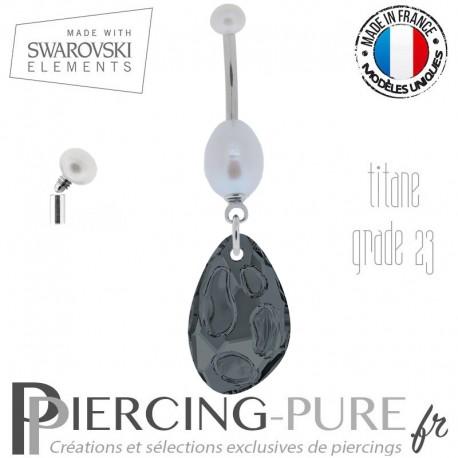 Piercing nombril radiolaire swarovski element ®