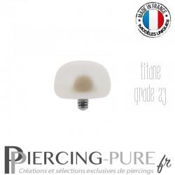 Microdermal Perle naturelle blanche nacrée 5,5mm