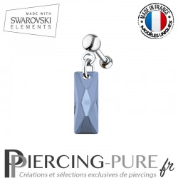 Piercing Oreille Tragus Swarovski Elements Queen Baguette Crystal Montana