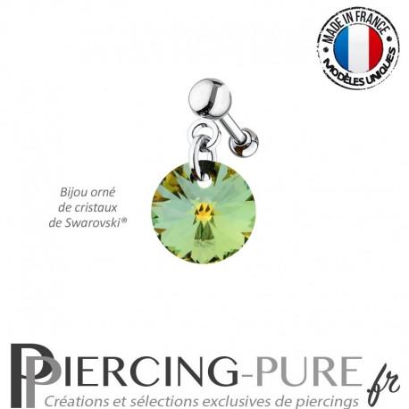 Piercing Oreille Tragus Crystal Rivoli Sahara