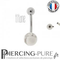 Piercing Titane interne Howlite