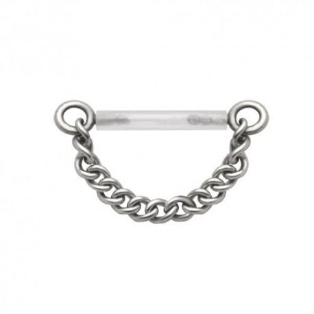 Piercing Téton Flexible chainette