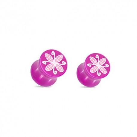 Plug fleur violette Acrylique