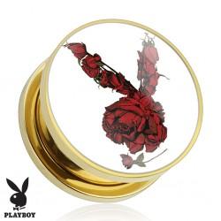 Plug Playboy® Plaqué-or et lapin roses