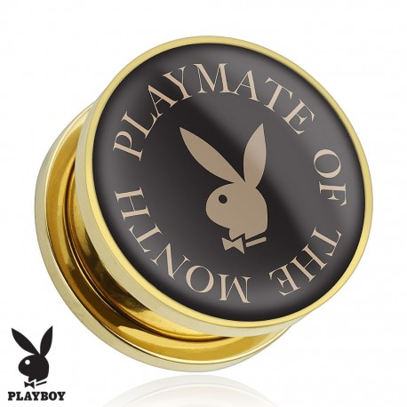 Plug Playboy® Plaqué-or lapin Playmate
