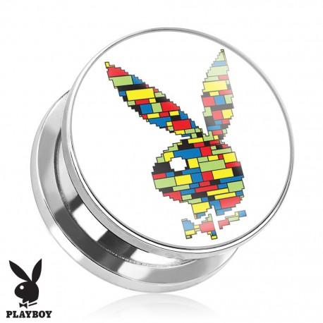 Plug Playboy® Acier lapin graphique blocs