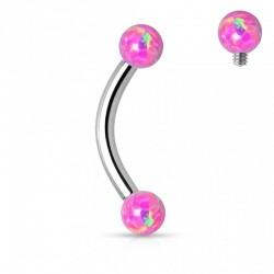 Piercing Arcade Opales roses
