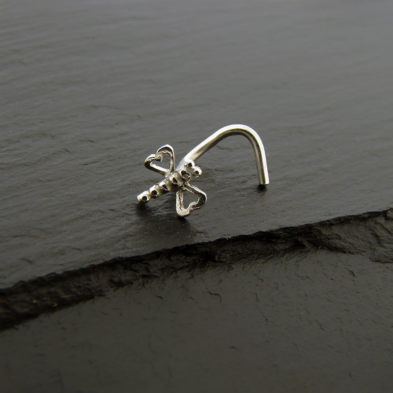 piercing nez or blanc 18k libellule piercing pure. Black Bedroom Furniture Sets. Home Design Ideas