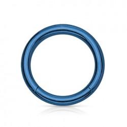 Anneau segment Titane bleu