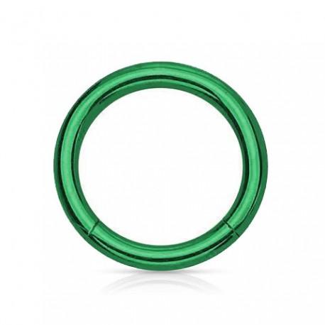 Anneau segment Titane vert