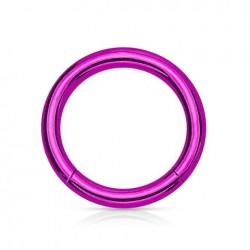 Anneau segment Titane violet 1.2mm x 8mm