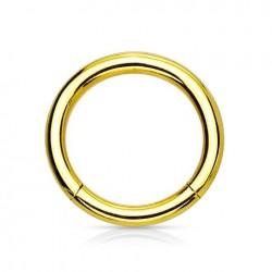 Anneau segment Titane doré 1.2mm x 10mm