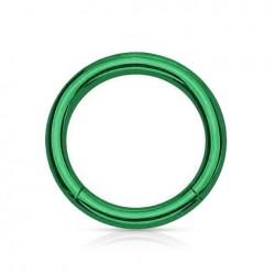 Anneau segment Titane vert 1.2mm x 10mm