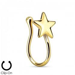 Faux Piercing Nez Plaqué-or étoile