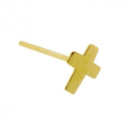 Piercing Nez Or jaune 9K croix