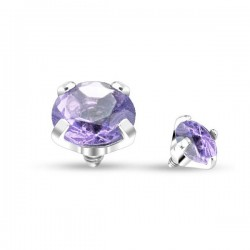 Microdermal Cristal griffé violet 4mm