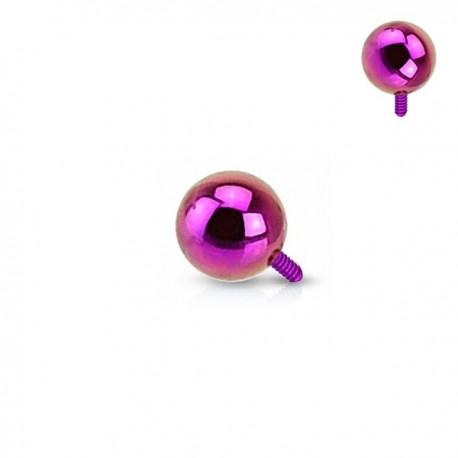 Microdermal bille Acier plaqué Titane violet 2,5mm