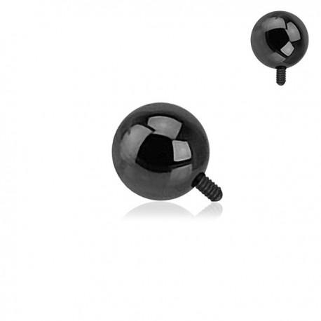 Microdermal bille Acier plaqué Titane noir 3mm