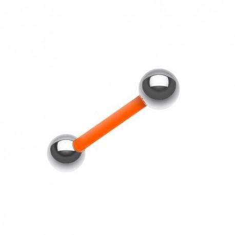 Piercing Langue Flexible orange billes Acier