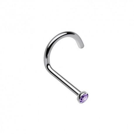 Piercing Nez Titane Cristal violet