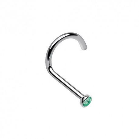 Piercing Nez Titane Cristal vert émeraude