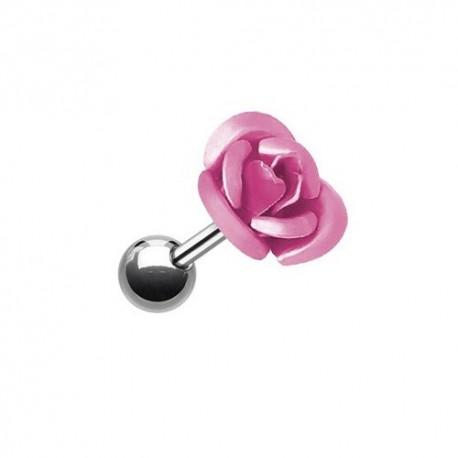 Piercing Tragus Acier Rose