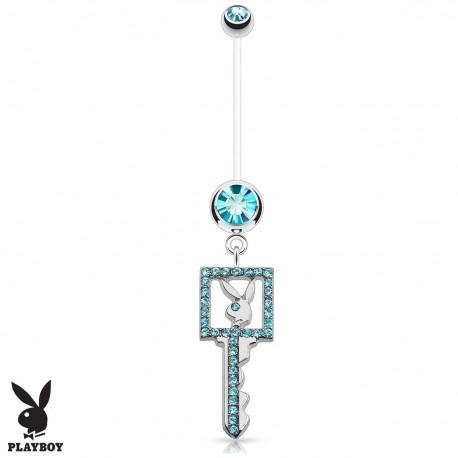 Piercing Nombril Grossesse Flexible Playboy® clé bleue