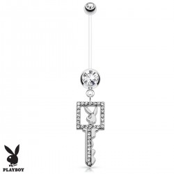 Piercing Nombril Grossesse Flexible Playboy® clé blanche
