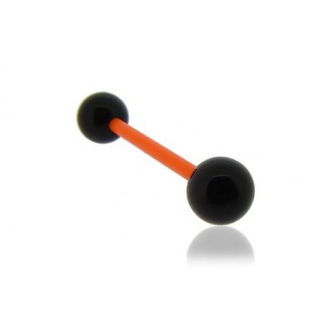 Piercing Téton Grossesse Flexible noir et orange