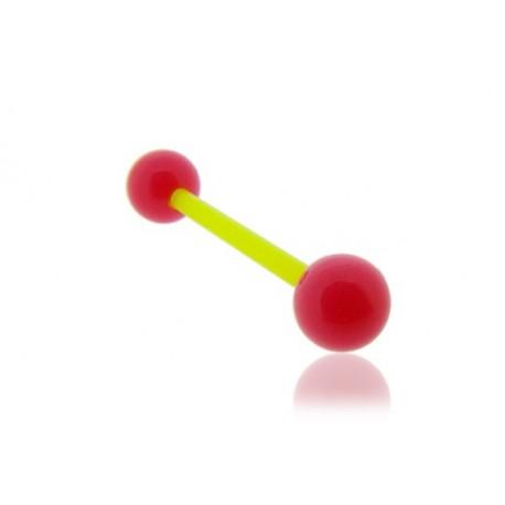 Piercing Téton Grossesse Flexible rose et jaune