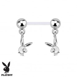 Piercing Téton Grossesse Flexible Playboy® double Lapins