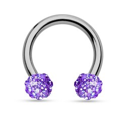 Fer à Cheval Titane Multi-Cristaux violets