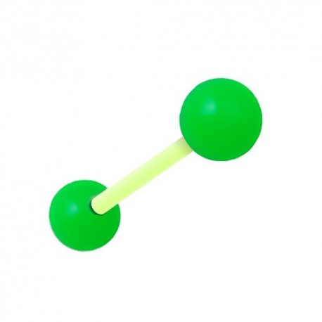 Piercing Téton Grossesse Flexible vert et jaune
