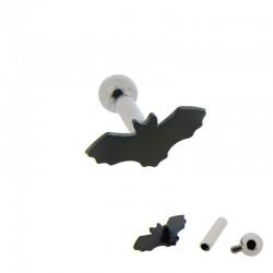 Piercing Oreille 1,6mm Acier chauve-souris Blackline