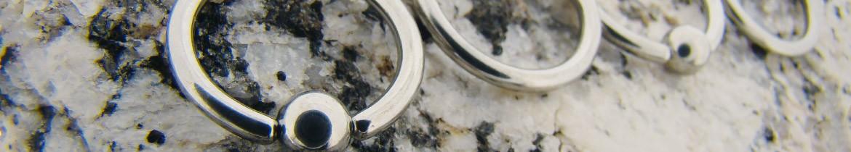 Acheter des anneaux pour piercings avec billes clipsées