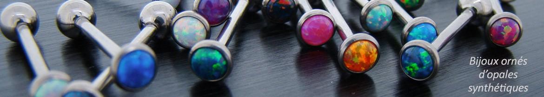 avec opales synthétiques