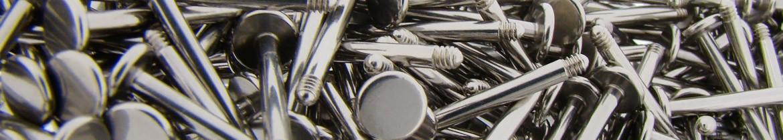 Piercing labret acier