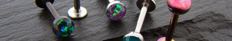 Acheter des piercings labret pour tour de lèvres avec opales
