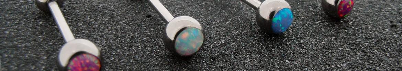 Acheter des piercings de langue avec opale