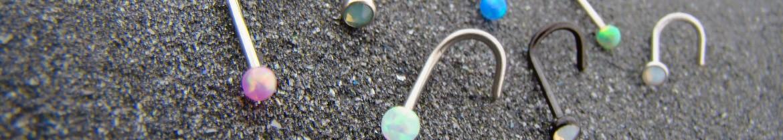 Acheter des piercings de nez avec opale